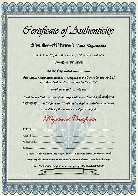 steve-morris-pet-portrait-authenticity-certificate
